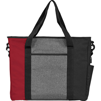Maroon - Triad Zippered USB Tote | Hardgoods.ca