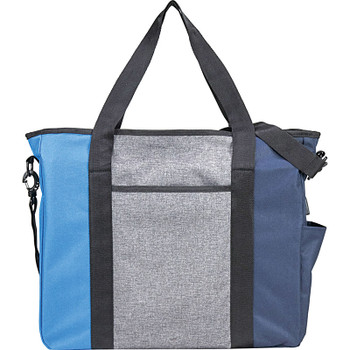 Blue - Triad Zippered USB Tote | Hardgoods.ca