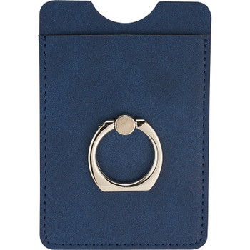 Navy - RFID Premium Phone Wallet with Ring Holder | Hardgoods.ca