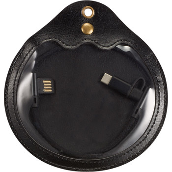 Black - Abruzzo 3-in-1 Charging Cable w Pouch | Hardgoods.ca