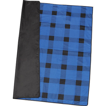 Blue - Buffalo Plaid Fleece Picnic Blanket | Hardgoods.ca