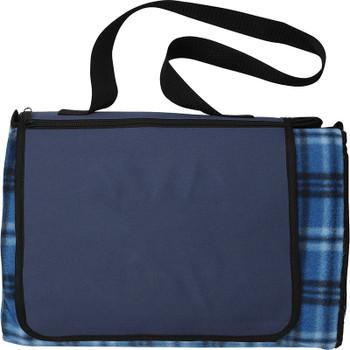 Blue - Extra Large Plaid Picnic Blanket Tote   Hardgoods.ca