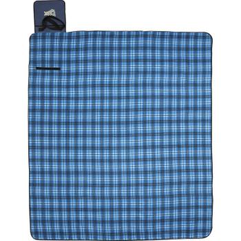 Blue - Extra Large Plaid Picnic Blanket Tote | Hardgoods.ca