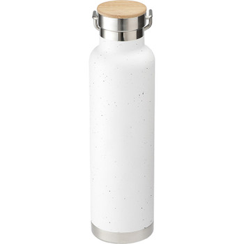 White - Speckled Thor Copper Vacuum Insulated Bottle 22oz | Hardgoods.ca