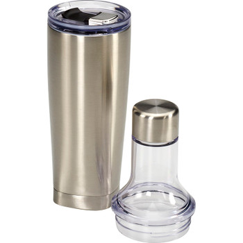 Silver - Duo Copper Vacuum Bottle & Tumbler 22oz | Hardgoods.ca