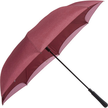 Burgundy - 48'' Auto Close Heathered Inversion Umbrella | Hardgoods.ca