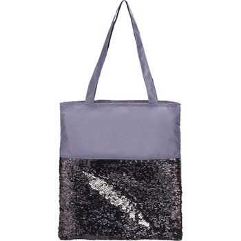 Black/Silver - Mermaid Sequin Tote | Hardgoods.ca