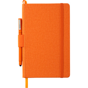 Orange - Heathered Hard Bound JournalBook | Hardgoods.ca