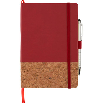 Red - Lucca Cork Hard Bound JournalBook | Hardgoods.ca