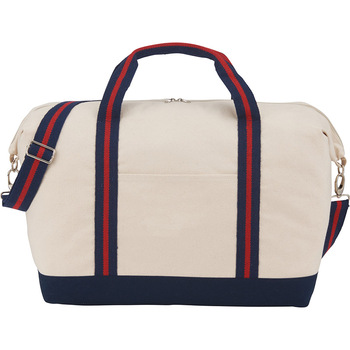 Red/White/Blue - Top Sail 12oz Cotton Canvas Duffel | Hardgoods.ca