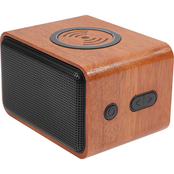 Wood Bluetooth Speaker with Wireless Charging Pad | Hardgoods.ca