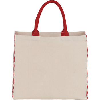Red - Diamond Gusset Cotton Tote | Hardgoods.ca