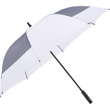 White - 60'' Jacquard Sport Auto Open Golf Umbrella | Hardgoods.ca
