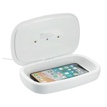 White - 7143-14 Phone Sterilizer with Wireless Charging Pad | Hardgoods.ca