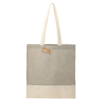 Grey - Split Recycled 5oz Cotton Twill Convention Tote Bag | Hardgoods.ca