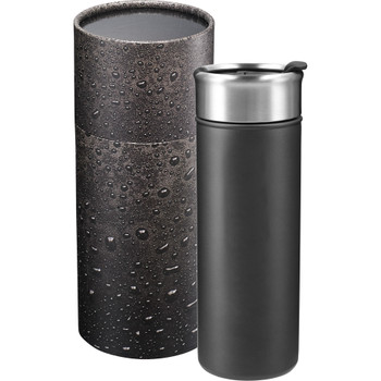 Charcoal - Salem Copper Vacuum Tumbler 18oz with Gift Box | Hardgoods.ca