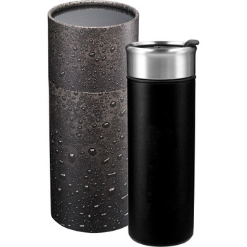 Black - Salem Copper Vacuum Tumbler 18oz with Gift Box | Hardgoods.ca