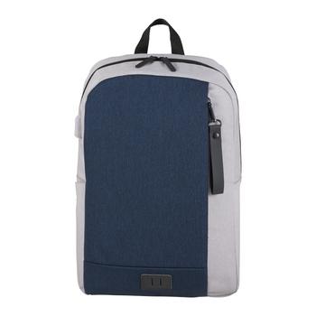 "Grey/ Navy - NBN Whitby Slim 15"" Computer Backpack w/ USB Port | HardGoods.ca"