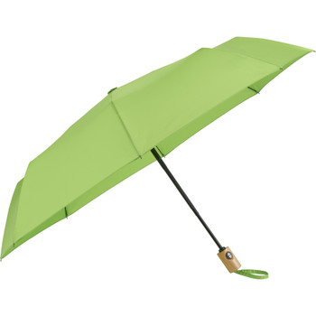 "Lime - 42"" Recycled PET Auto Open/Close Folding Umbrella 
