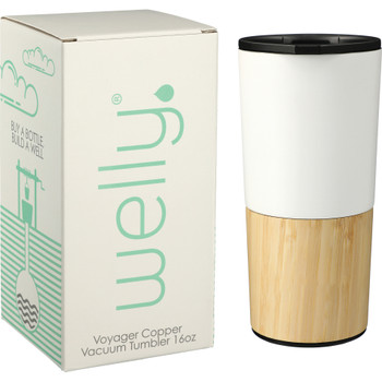 White - Welly® Copper Vacuum Tumbler with Gift Box | Hardgoods.ca