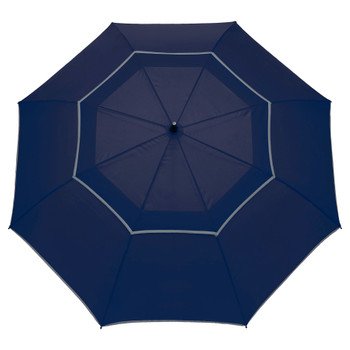 "Navy - 64"" Auto Open Reflective Golf Umbrella 