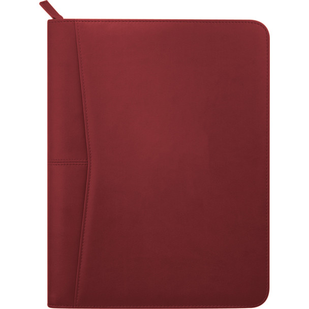 Red - Pedova™ Zippered Padfolio