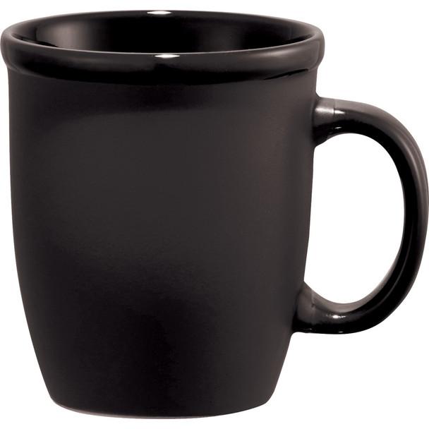 Black - Cafe Au Lait Ceramic Mug 12oz | Hardgoods.ca