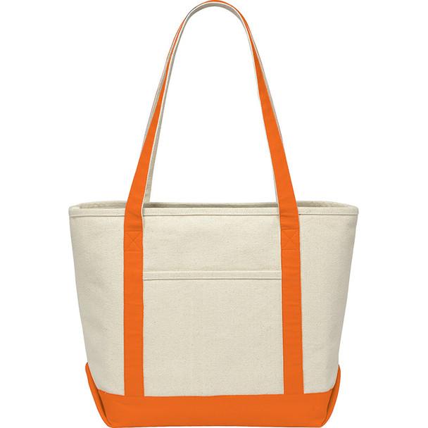 Orange - Premium 18oz Cotton Canvas Boat Tote | Hardgoods.ca