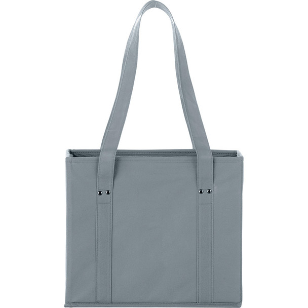Gray - 100g Non-Woven Collapsible Tote | Hardgoods.ca