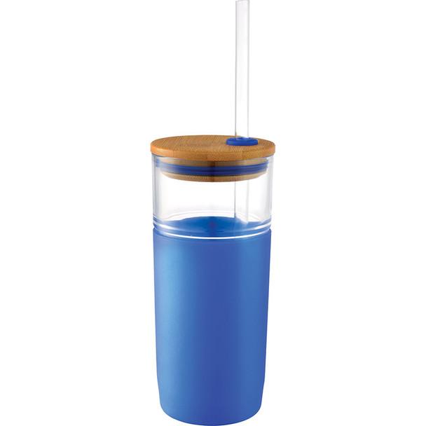 Blue - Poppi Glass Tumbler 20oz | Hardgoods.ca