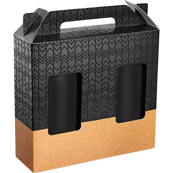 Black - Valhalla Copper Vacuum Tumbler Gift Set with Cork   Hardgoods.ca