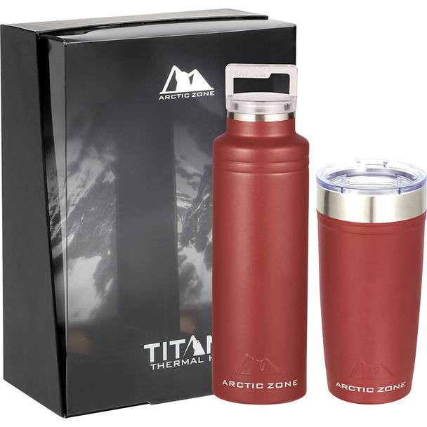 Brick Red - Arctic Zone Titan Thermal HP Copper Vac Gift Set | Hardgoods.ca