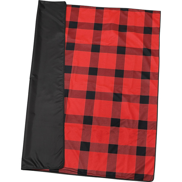 Red - Buffalo Plaid Fleece Picnic Blanket | Hardgoods.ca