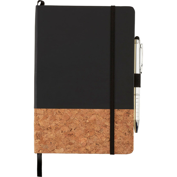 Black - Lucca Cork Hard Bound JournalBook | Hardgoods.ca