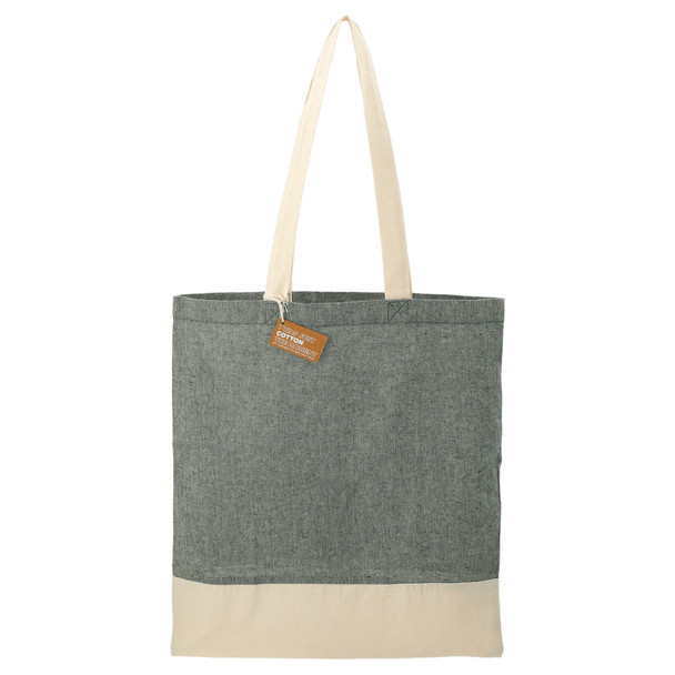 Dark Green - Split Recycled 5oz Cotton Twill Convention Tote Bag | Hardgoods.ca