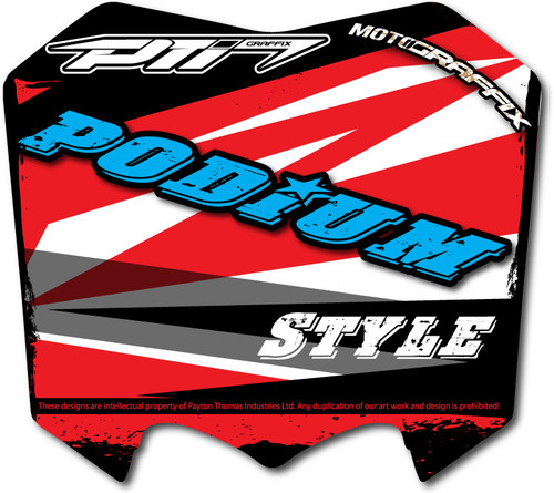 Podium Number Plate Graffix Kit