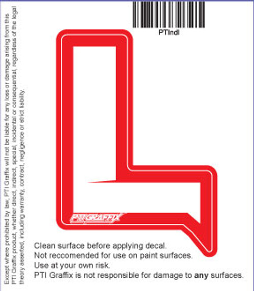 "New Driver ""L"" Decal"