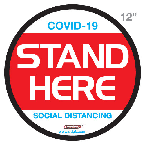 """Covid-19 """"STAND HERE"""" Floor Circle"""