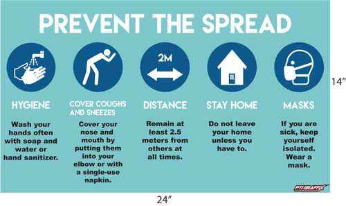 Prevent The Spread Covid-19 Sign