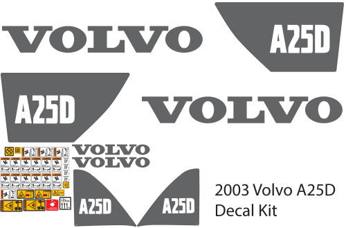 2003 Volvo A25D Decal Kit