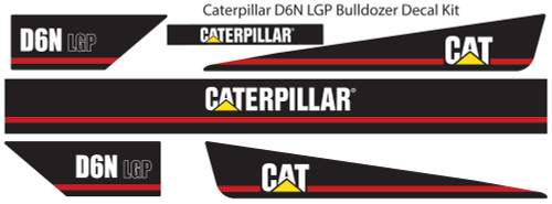 Caterpillar D6N LGP Bulldozer Decal Kit