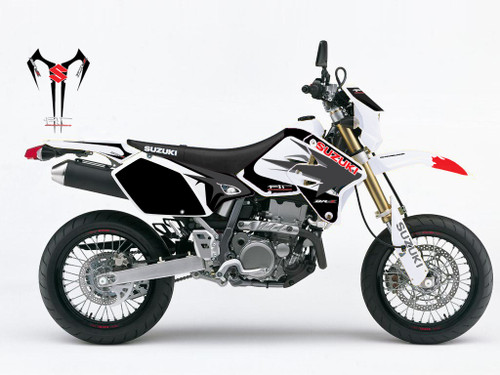 Suzuki DRZ SM and S Graphics Kit. Not exactly as shown.