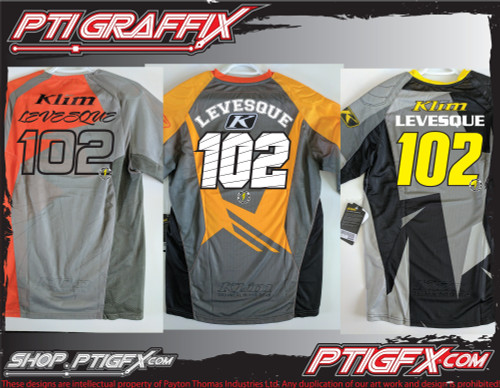 Motocross Jersey Name and Number Prints