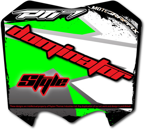 Dominator Number Plate Graffix Kit