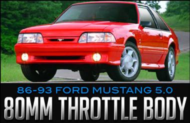 BBK Performance 80mm Throttle Body: 1986–1993 Ford Mustang 5.0L V8