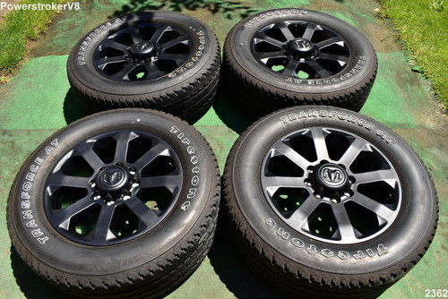 "20"" Dodge Ram 2500 3500 Night Edition OEM Factory BLACK Wheels Tires 2019 2020"