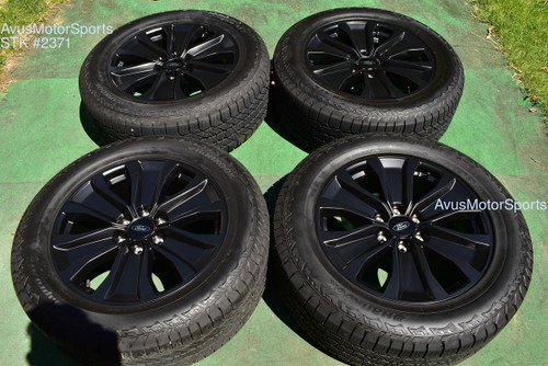 """20"""" Ford F150 OEM Factory FX4 XLT Lariat Black Wheels Tires Expedition 2020 2019"""