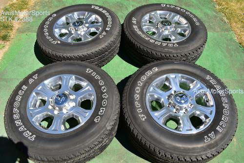 """18"""" Dodge Ram Laramie OEM Factory Polished Wheels Tires  2500 3500 2019 2020"""