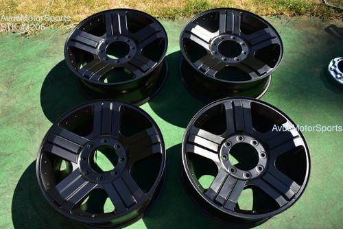 "20"" Ford F250 Super Duty Harley Davidson OEM Factory Wheels F350 Satin Black"