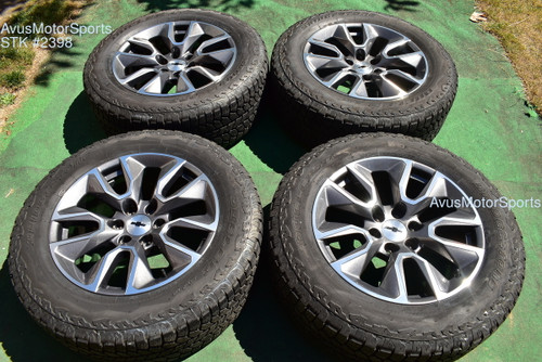 "20"" Chevrolet SILVERADO 1500 OEM FACTORY WHEELS RST Tahoe GMC Sierra YUKON 2020"